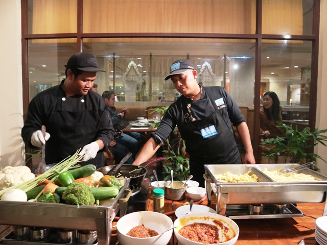 Pasta Stall di Barbeque Night Hotel New Saphir Yogyakarta
