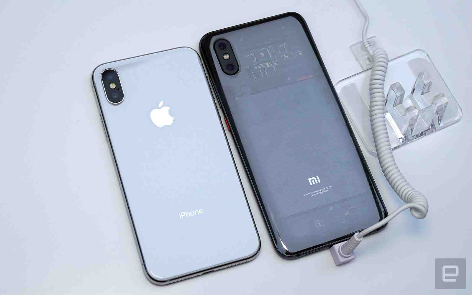 Xiaomi Mi 8 Explorer Vs Apple iPhone X Back View