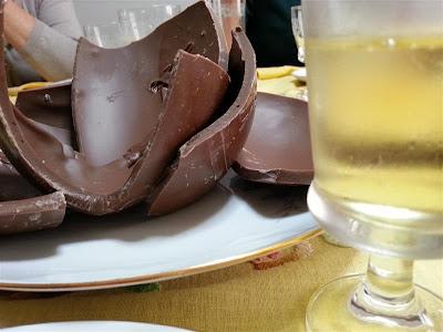 Uovo al cioccolato e bollicine