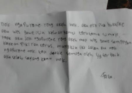 Korban Meninggal Bunuh Diri Tinggalkan Surat Untuk Pacar