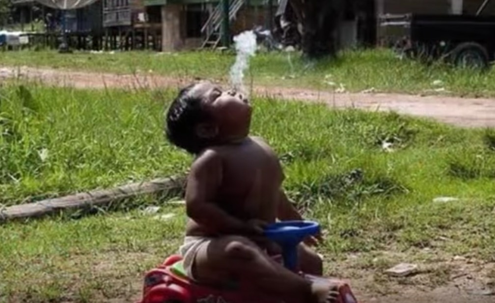The imagery was pretty confusing for us to see. - Remember The Chain Smoking Baby? Look At What He's Doing Now.