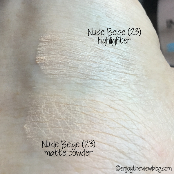 swatches L'Oreal Pro-Glow Powder in shade 23