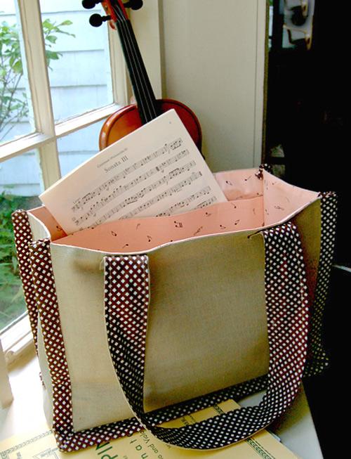 Music Bag Sew Tutorial & Pattern