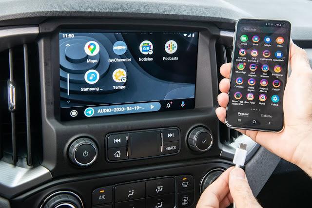 Nova Chevrolet S-10 2021 - multimídia