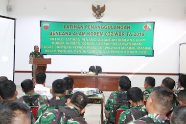Prajurit Korem 032/Wirabraja Dilatih Kesiapan Menghadapi Bencana