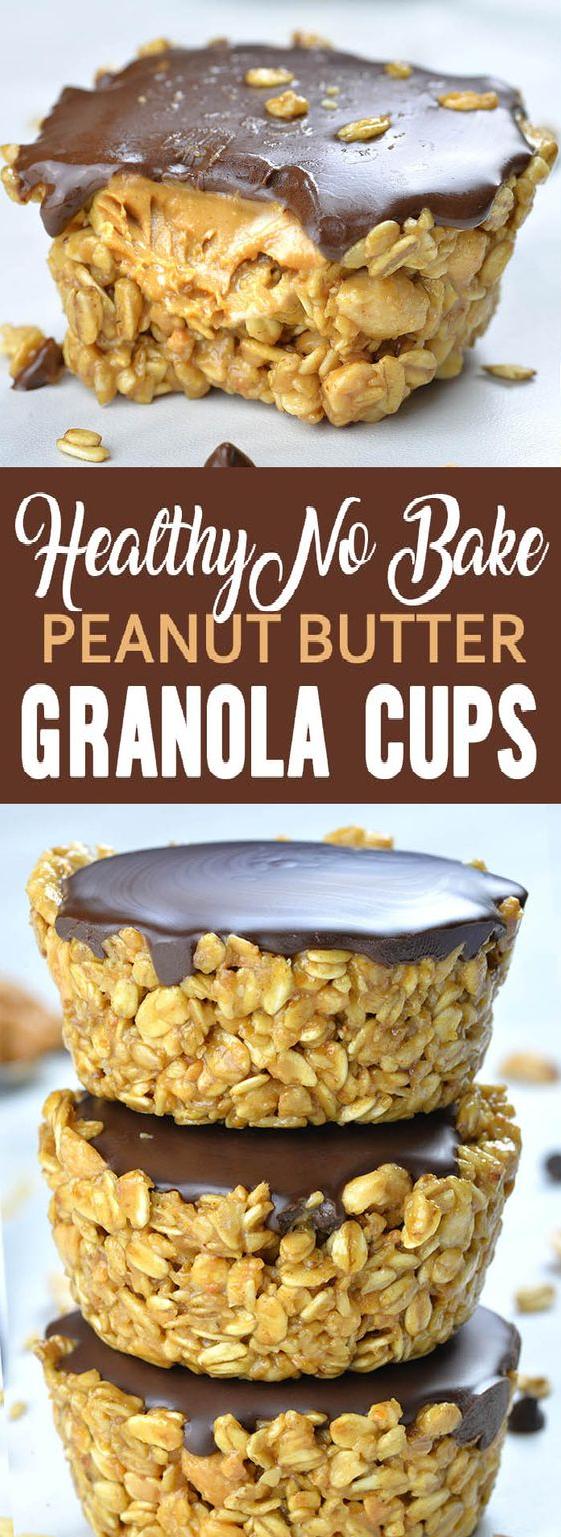No Bake Peanut Butter Granola Cups - Tips Food Recipes