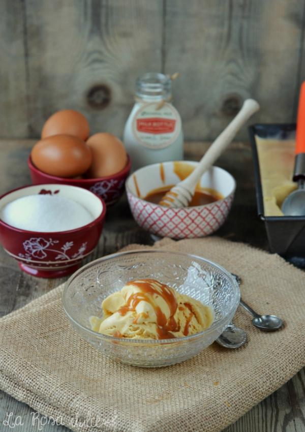 Helado de tofee o caramelo sin lactosa