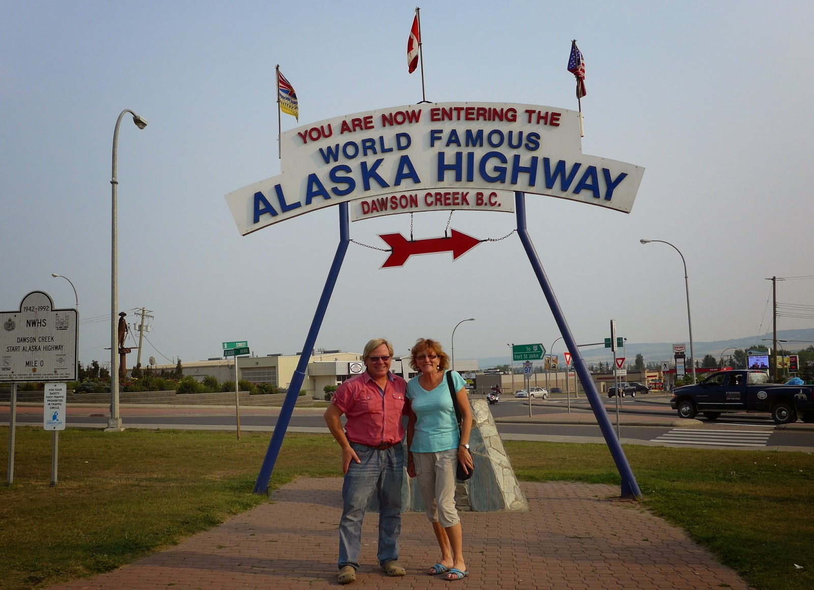 Anders and Liz in Dawson Creek, BC.