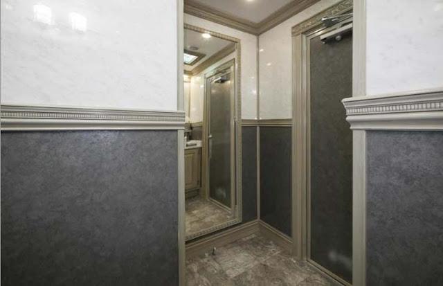 Full Length Mirror in Bathroom Trailer