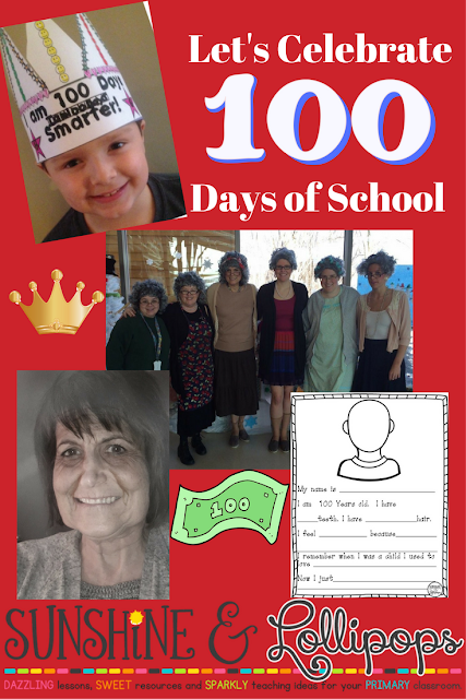 If you celebrate or want to celebrate the 100th Day of School, you will want to take a look at this post before you start to plan. It mentions some great ideas to use with your primary students. Don't wait too long...it will be here before you know it!