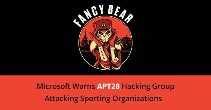 Microsoft Warns APT28 Hacking Group Attacking Sporting Organizations Around the World