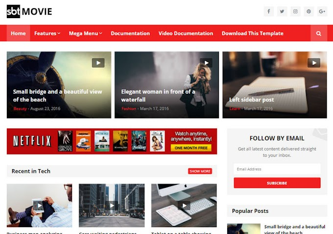 SBT Movie Blogger Template Download Free