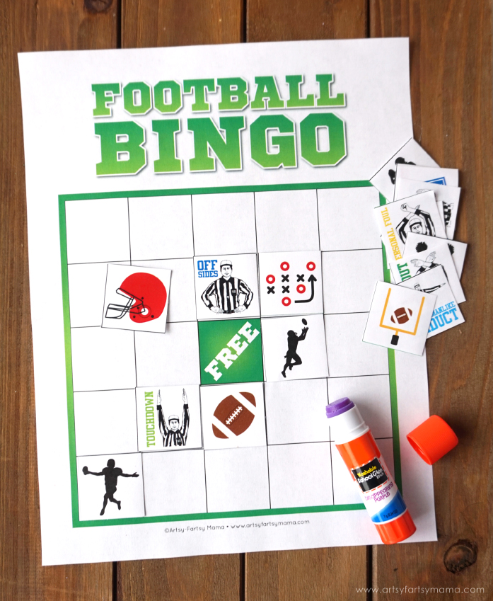 picture regarding Free Printable Football Bingo Cards known as No cost Printable Soccer Bingo artsy-fartsy mama
