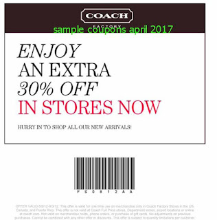 Coach coupons for april 2017