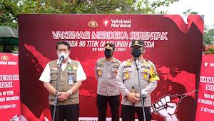 Vaksinasi Merdeka Serentak, Polda Riau Gandeng PT Siapkan 9.000 Vaksin dan 1.500 Paket Bansos