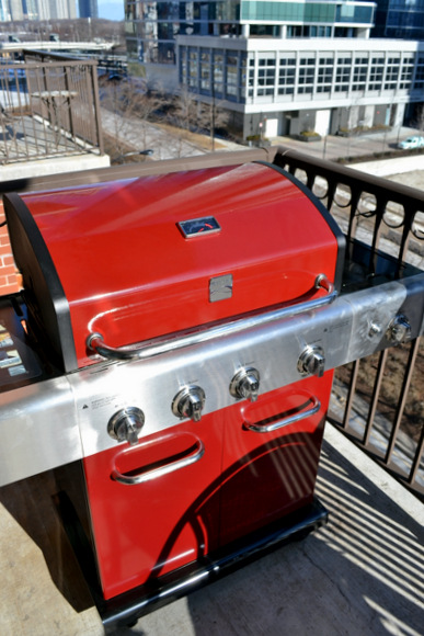 Red Kenmore Grill