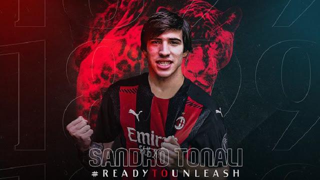 Sandro Tonali Resmi Pemain AC Milan