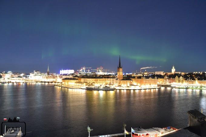 Zorza nad Sztokholmem