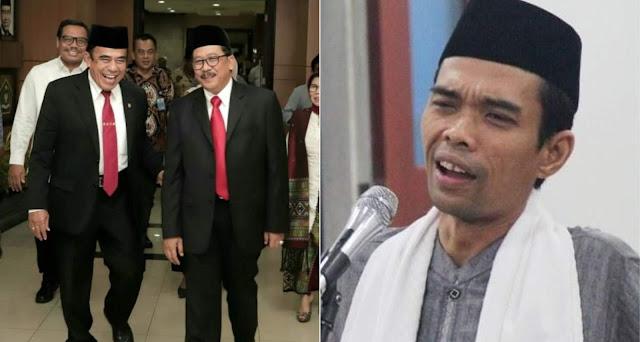 Menag Kau Ketemu Ustadz Abdul Somad