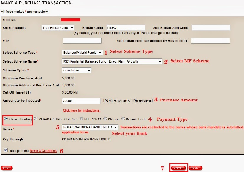 ICICI Mutual Fund Online Purchase