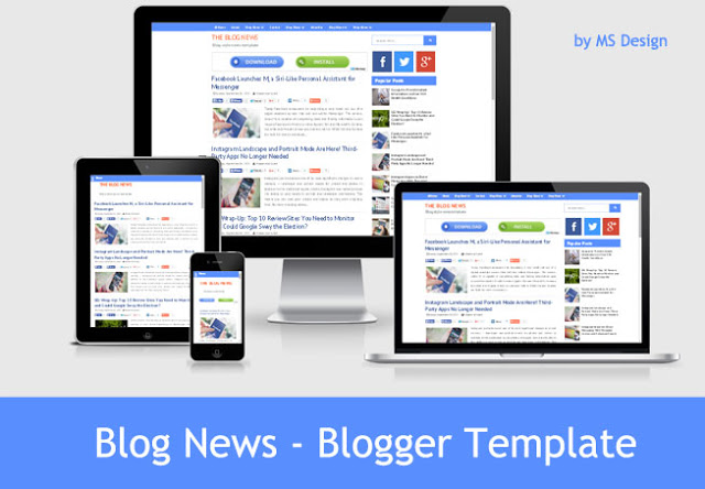 Blog News - Responsive Blogger Template