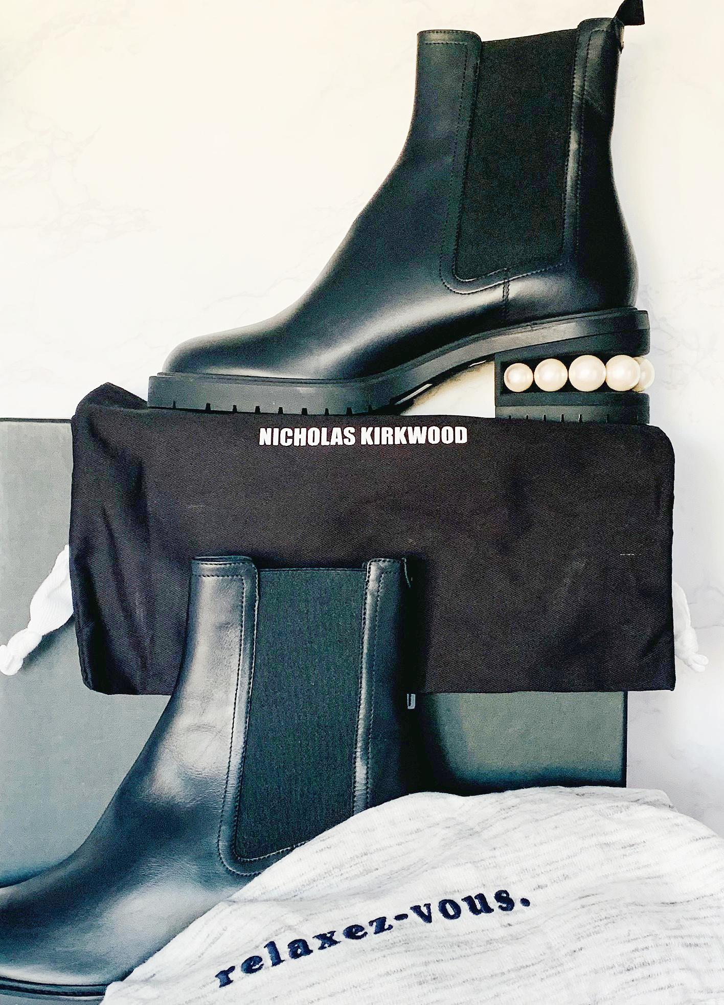 Nicholas Kirkwood Casati Leather Chelsea Boots Sale
