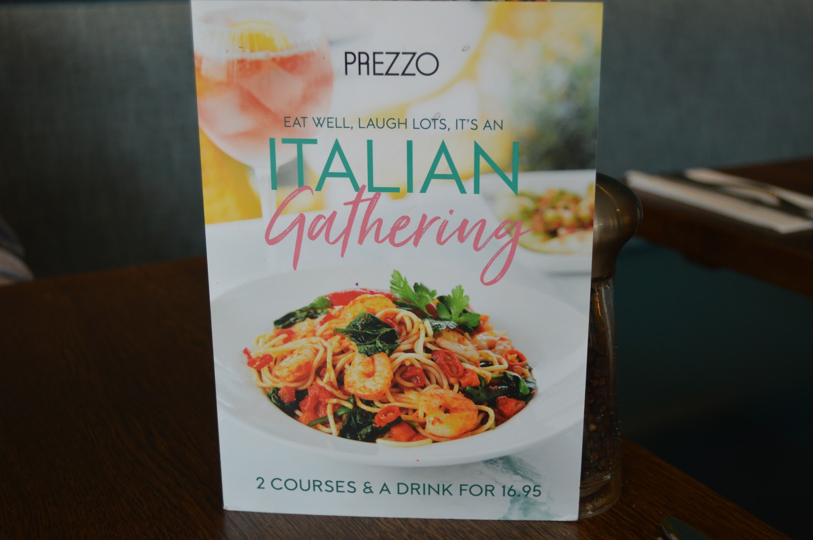Italian Gathering Menu At Prezzo