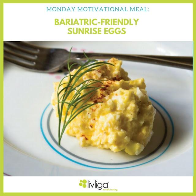 Livliga Sunrise Egg Salad on Just Right Set bariatric