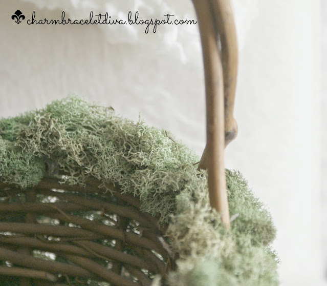 grapevine basket handle moss