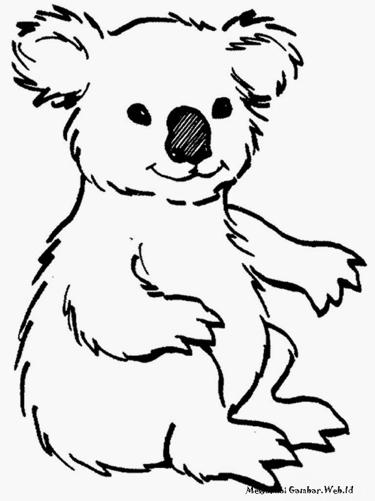 Gambar Mewarnai Jerapah Lucu Kaligrafi Kartun Hewan Diwarnai Koala Imut