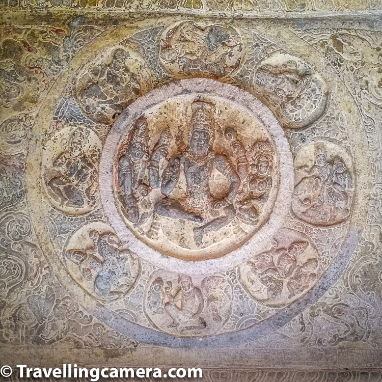 The ceilings show Vedic deities such as Agni and Indra, along with Brahma, Vishnu and Shiva. Other deities displayed include love god and goddess Kama and Rati respectively, as well as Nayikas with various emotional expressions. The carvings show the same vahana for the various gods and goddesses that are found in contemporary Hinduism. Evidence of pigment remains have survived and are visible in the ceiling. It is likely that the ceiling was elaborately painted like those in Ajanta Caves of Maharashtra.    Open Air Museum is another interesting place in Badami which has 4 separate section and 2 of them are open air. This museum has plenty of things from mythological & prehistoric era. This part of South India has certainly lot to explore & impress.     Aihole in this region is a store of temples & heritage. Aihole has plenty of temples and ruins spread over the town and that makes it very special. It's also advisable to accompany a guide who can share about Aihole it's history and how it transformed over a period of time.