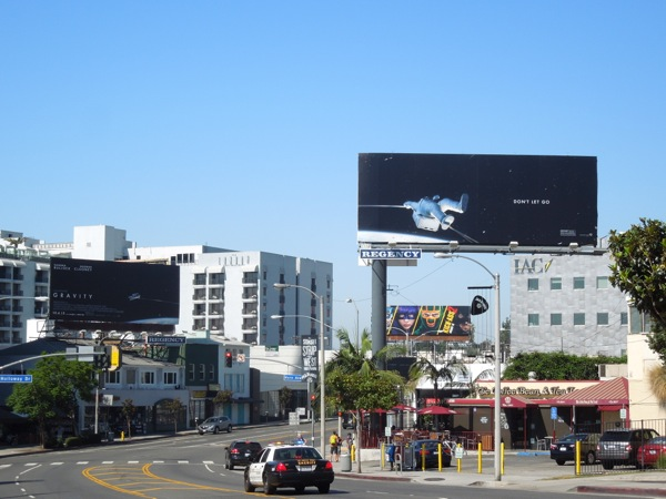 Gravity Don't let go movie billboards Sunset Strip