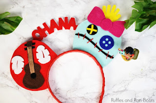 Lilo and Stitch mickey ears diy