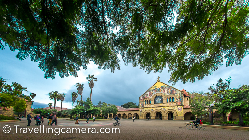 Stanford Memorial Church is located on the Main Quad at the centre of the Stanford University campus in California, United States .