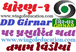 Std-1 DD Girnar Home Learning All Subjects Video December-2020-www.wingofeducation.com
