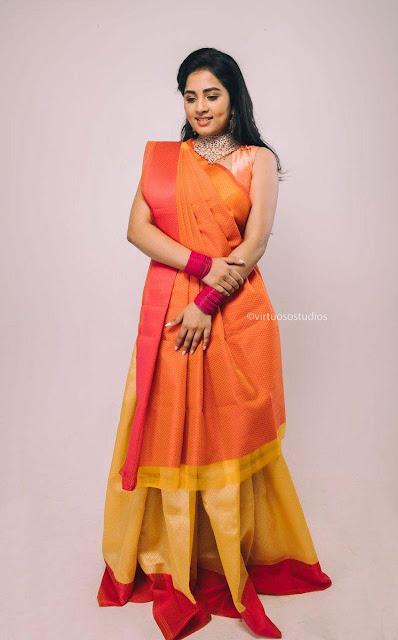 Actress Srushti Dange Latest Stills in Half Saree Actress Trend