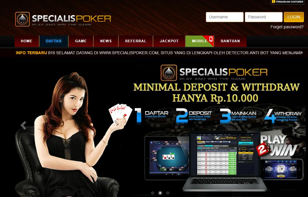 SpecialisPoker Situs Resmi Domino Online - Situs Poker Terbaik