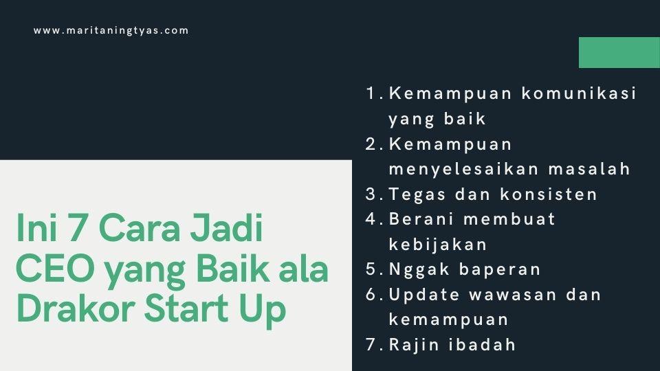 7 cara menjadi CEO yang baik