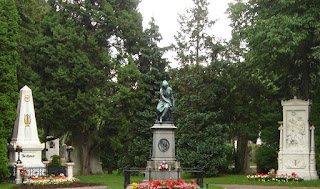 Graves of Beethoven, Schubert & Mozart in Vienna central cemetery