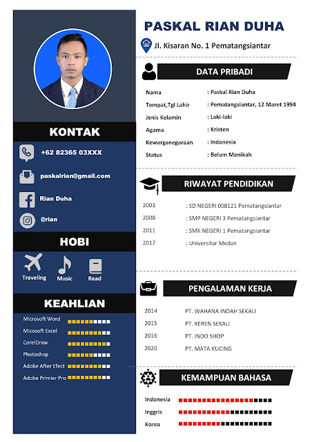 Download CV lamaran Kerja Gratis