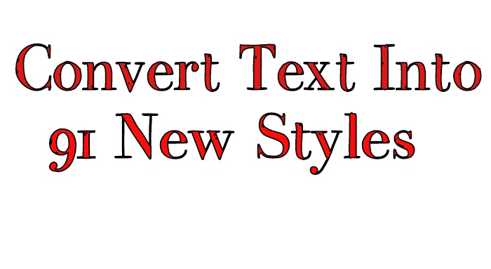 Stylish Text Generator Convert Text Into 91 New Styles [in Hindi]