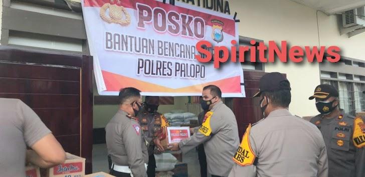 Kapolres Bersama Wakapolres Palopo Mengirim Bantuan Kemanusian Untuk Korban Gempa di Mamuju