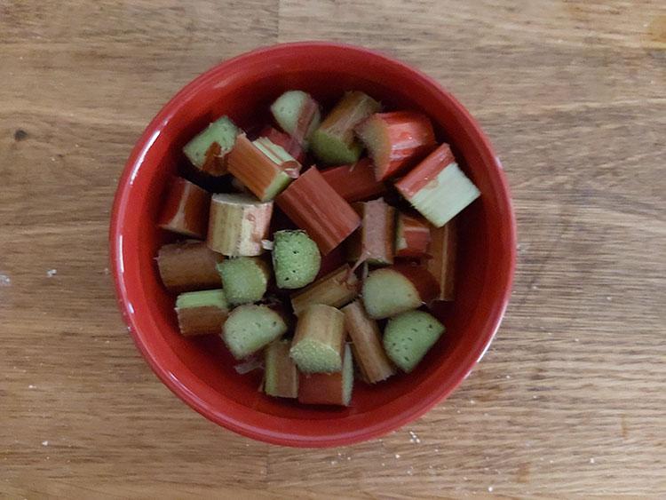 Rhubarbe pour crumble