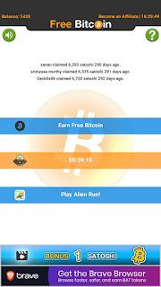 Proses claim faucet bitcoin di aplikasi android
