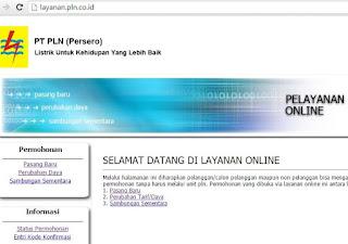 layanan online PLN  kode konfirmasi