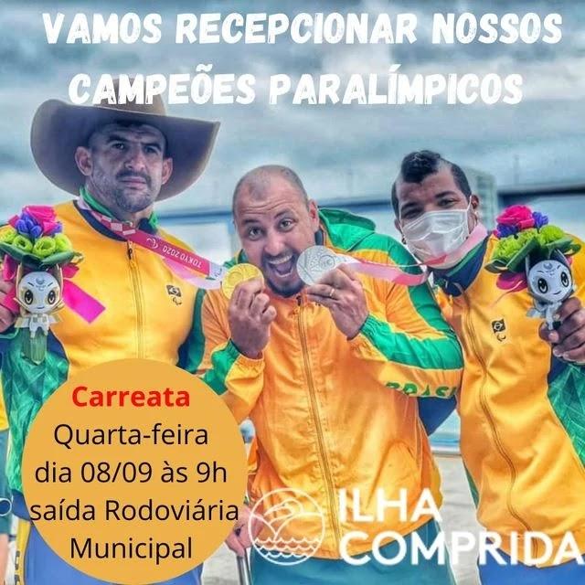 Vamos recepcionar nossos Campeões da Paralimpíada na quarta 08/09