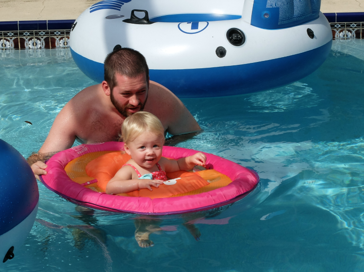 Toddler pool time