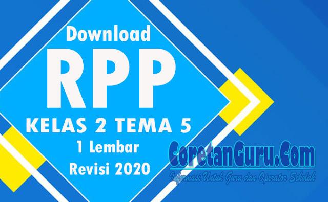 RPP Daring Kelas 2 SD Tema 5 Semester 2 Kurkulum 2013