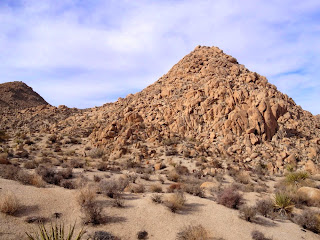 View west toward Mount Mel (3814'), Indian Cove, Joshua Tree National Park