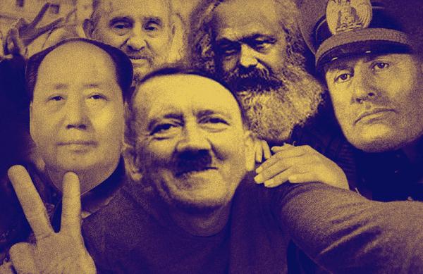 Hitler e colegas ditadores